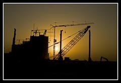 Sunset over Pearl Qatar.