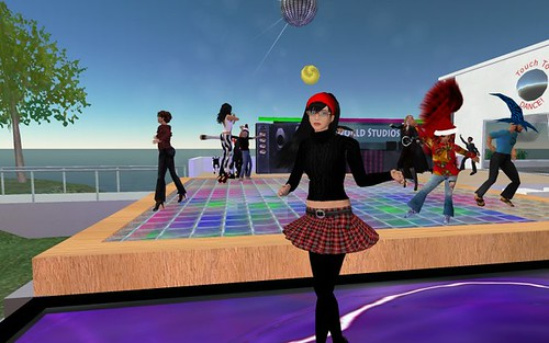 Dancing at the after party for Virtually Speaking