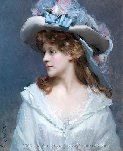 Woman_in_White de Raimundo  de Madrazo y Garreta