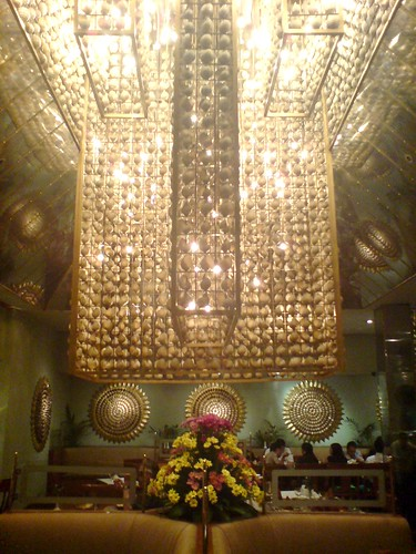Cowrie chandelier