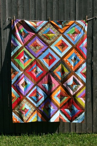 Wonky Scrapbusting String Quilt :: WIP, Top Pieced