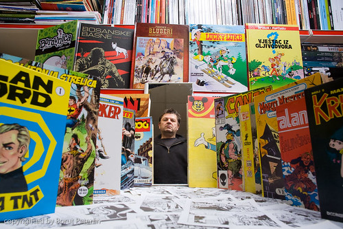 Portrait of Buch - comics collector