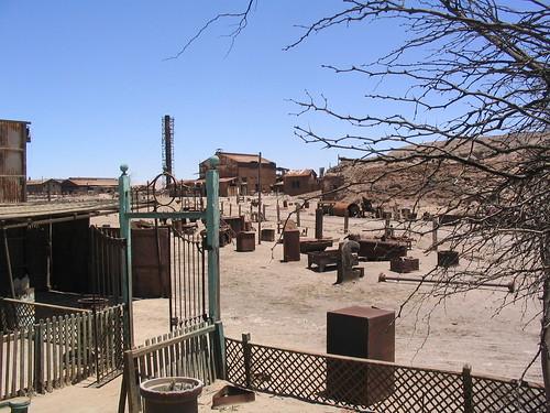 Pueblo minero de Humberstone en el desierto