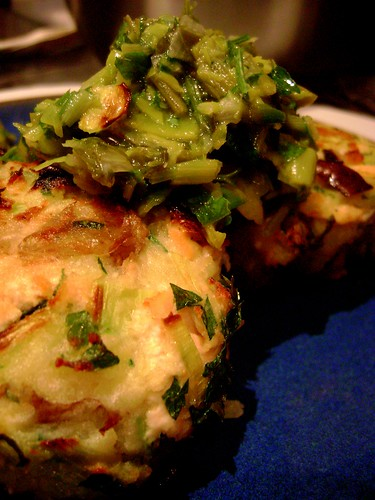 Salmon and Leek Fishcake