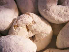 Mini powdered donuts