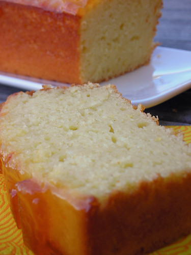 lemon yogurt cake with marmalade glaze