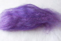 purple merino-silk batt