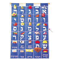 aleph bet wall hanging
