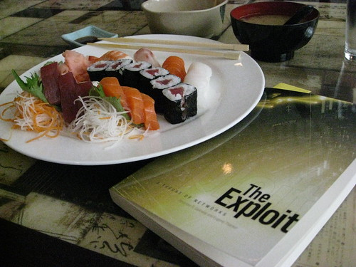 "I started reading ""The Exploit"" over lunch"