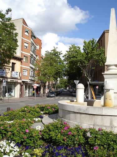 Calle Teniente Ruiz desde la Plaza de los Mártires actualmente