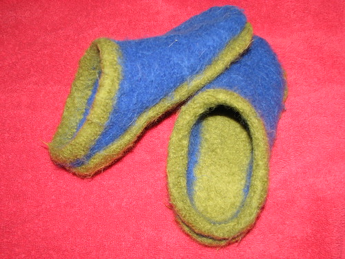 Andrew's felted clogs Dec 2007