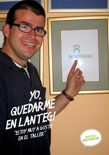 Joseba, en el taller.