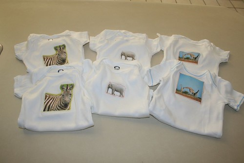 African onesies ready to be wrapped
