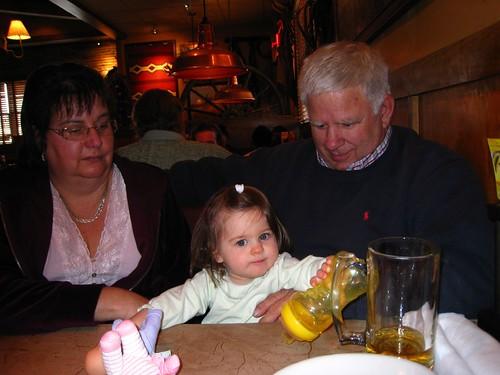 Nana Sue, Amelia, and Grampa Van
