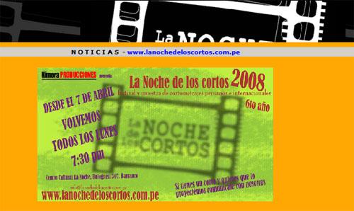 Afiche La Noche de los cortos