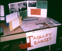 Trolley Transit science fair exhibit - 4th grade