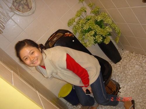 Rubie in Sohot's restroom