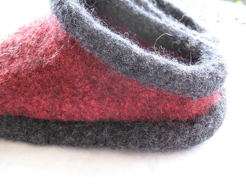 Felted Clogs side