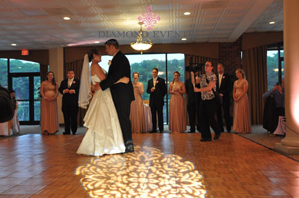 First dance with design spot light at Harbour View Event Center