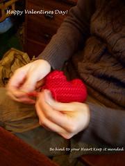 Adrienne making a heart