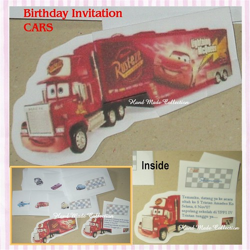 Tristan's Birthday Invitation CARS
