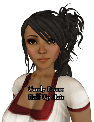 Candy House Half Up Hair