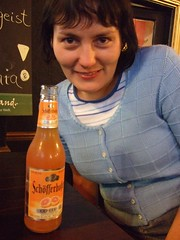 Kate w/ german shandy type beer