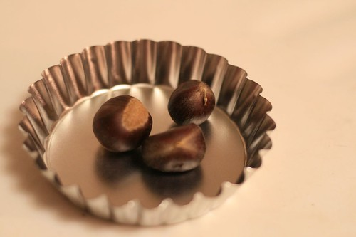 chestnuts in tart tin