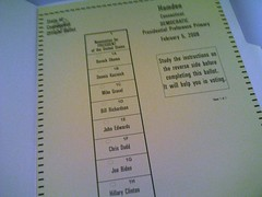 CT Primary Ballot