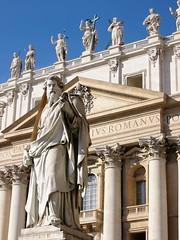 Statue of Saint Paul, on Saint Peter Square Ro...