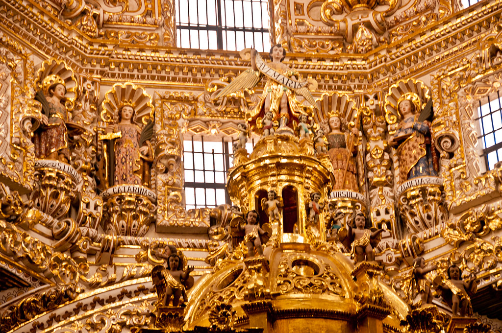 In the Capelli del Rosario, Santo Domingo, Puebla
