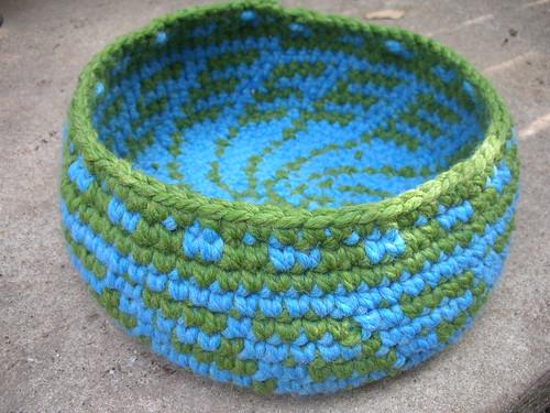 Green Grass Blue Sky Basket by you.