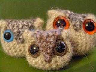 Crocheted owl pattern