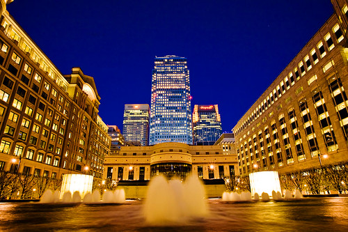 Canary Wharf from Cabot Square