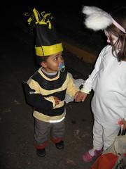 Emerson wearing Selma's Bumblebee Costume
