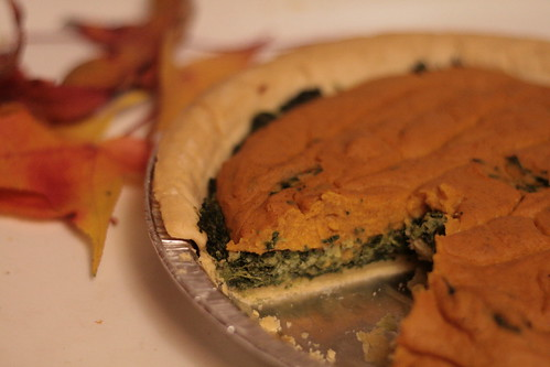 Savory Spinach Squash Soufle Pie