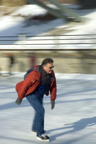 skater, in motion