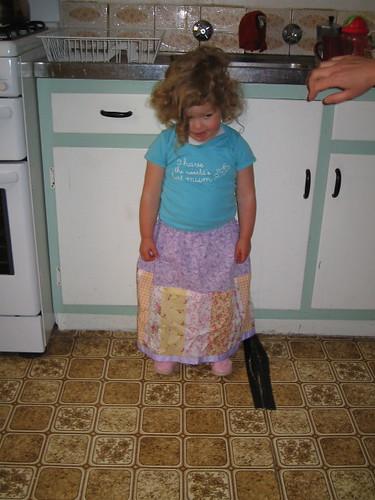 Coy in her new skirt