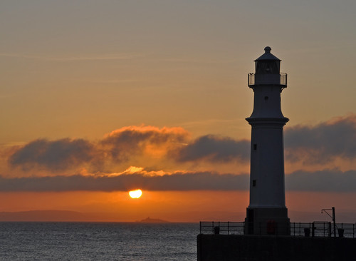 Newhaven Lighhouse at Sunset