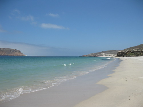White Sandy Beach of San Miguel Island