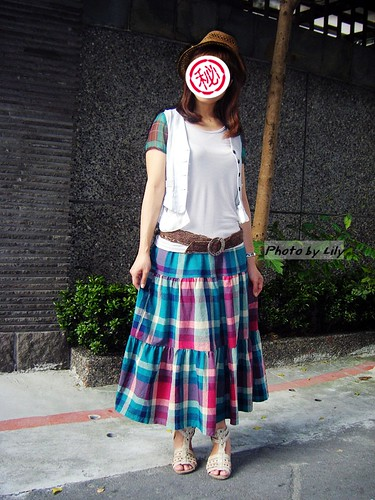 我穿田園彩虹格,我自己很愛哪!