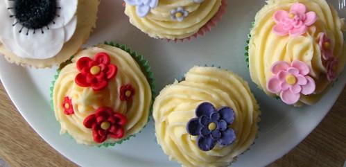 Flower cakes bird's eye