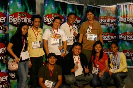 Bariles with ABS-CBN Socsksargen News Bureau Chief Myric Kapunan and her staff inside the PBB Screening Room.