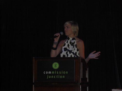Kerri Pollard announcing the CJYou Award Winners