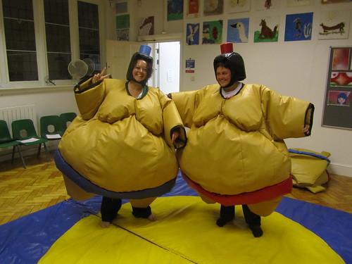 Me & mum in sumo suits