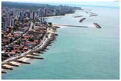 Vista aérea da orla de Bairro Novo, Casa Caiada e Rio Doce. Foto: Passarinho/Pref.Olinda