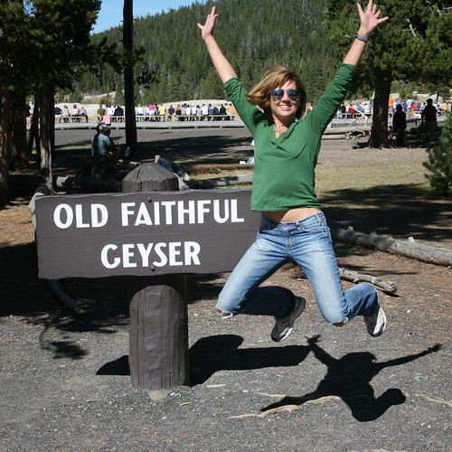 Jump for Old Faithful