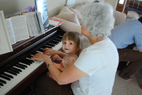 Piano with grandma.