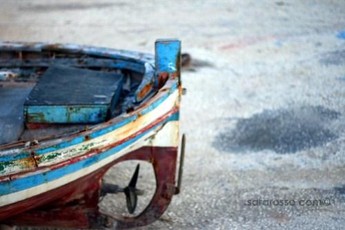 Boat in Favignana Island, Sicily, Italy