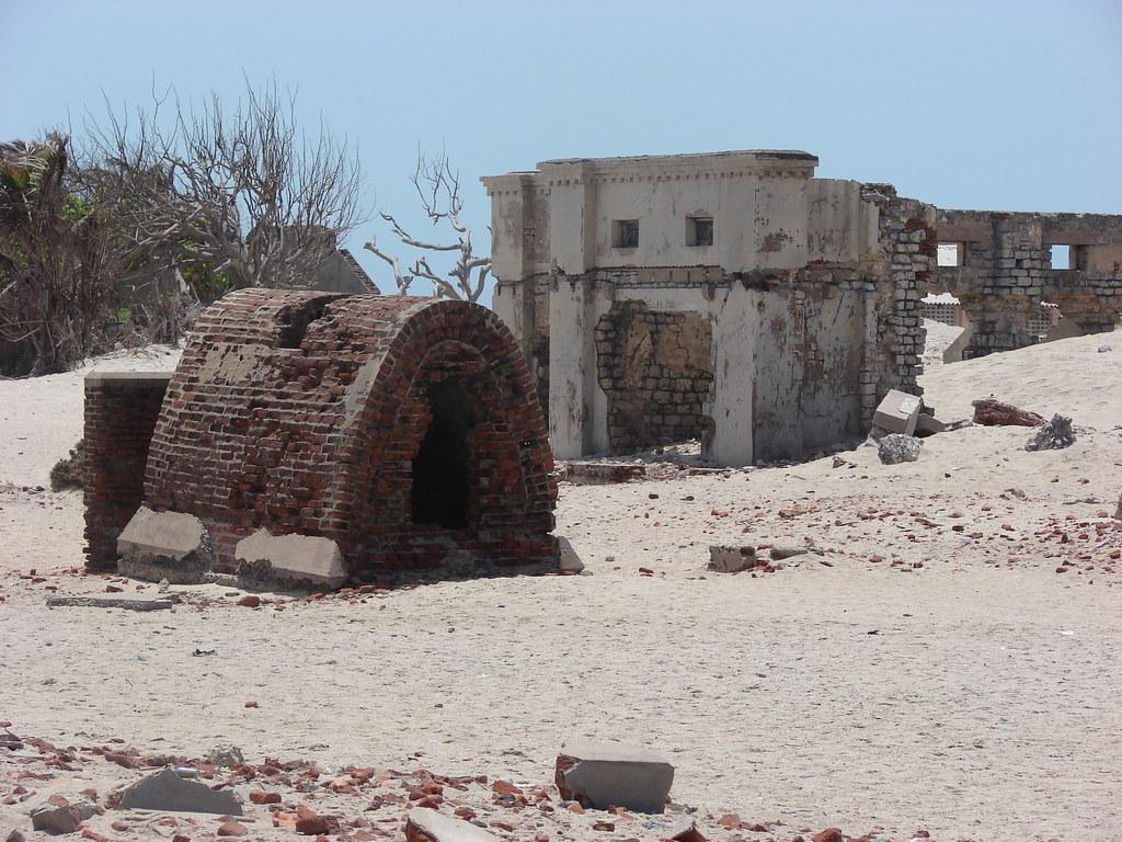 Old Dhanuskodi town... devasted during 60s storm